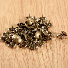 100Pcs/lot 9x6mm Antique Brass Upholstery Nail Decorative Upholstery Tacks Stud Wooden Box Case Furniture Nails Pushpin Doornail(China)