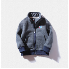 Spring Summer Polo Neck Kids Cardigan Fashion Solid Color Zipper Boys Jacket Cheap High Quality(China)
