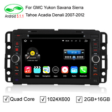 "HD 7"" 2 Din 1024*600 Quad Core 2GB/16GB Android 5.1.1 PC Car DVD GPS For Chevrolet GMC Yukon Savana Sierra Tahoe Acadia Denali"