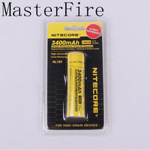 New Genuine Nitecore NL189 3400mAh 18650 3.7V Rechargeable Li-ion Long Lasting battery batteries( NL189 )