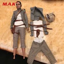"1/6 Scale Rey Costume Star Wars The Force Awakens Clothes Set For 12"" Action Figure Accessory(China)"