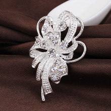 danbihuabi unique rhinestone brooch pins wedding accessories pins and brooches for women vintage brooch jewelry danbihuabi(China)