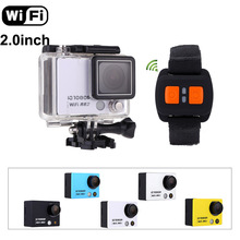 "WiFi Sports Action Camera 2.0"" 30M Waterproof 1080P/60FPS 160Degree Wide Lens Mini Video Camcorder DVR+Remote Control Watch(China)"