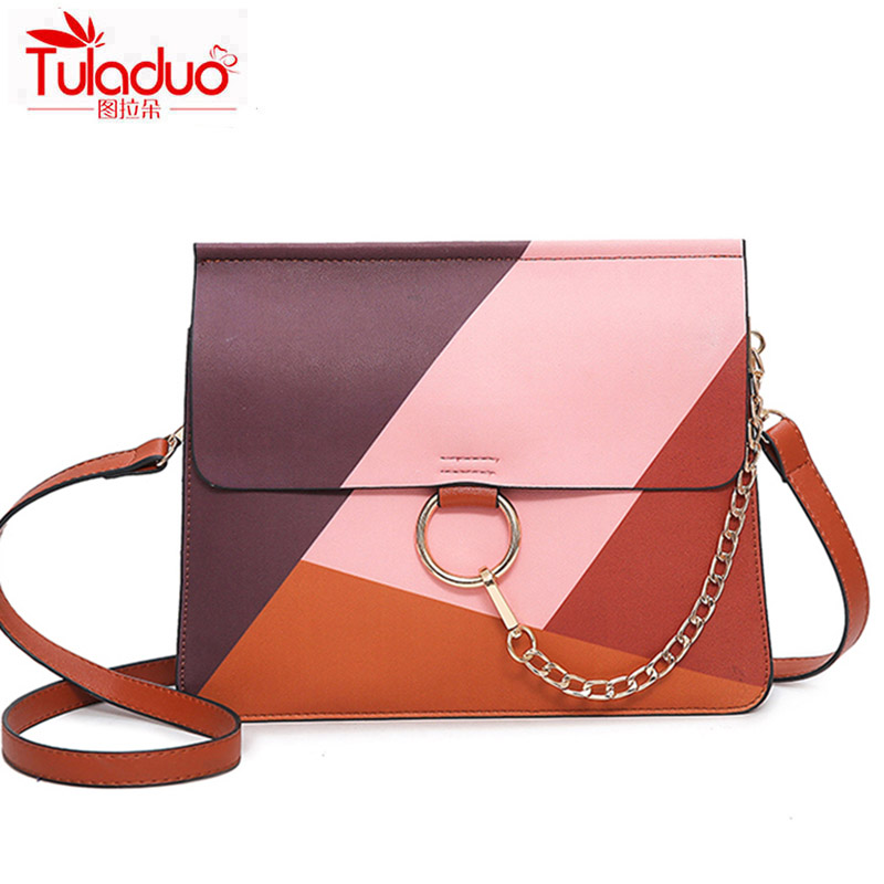 TULADUO Brand Fashion Multi Patchwork Women Crossbody Bags High Quality PU Leather Ladies Shoulder Bags Famous Luxury Mujer Bags<br><br>Aliexpress