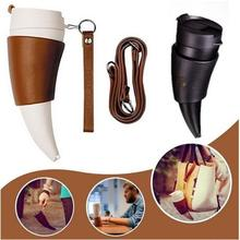 Goat Horns Shaped Mug Coffee Insulation Vacuum Thermos Cup Flask Drinkware Botella De Agua