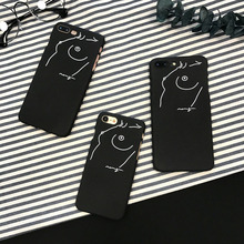 Hot Selling art Simple lines Case For iPhone 7 6 6S Plus Scrub Plastic PC Mobile Phone Cover For iPhone 6 7 6s Back Capa lina