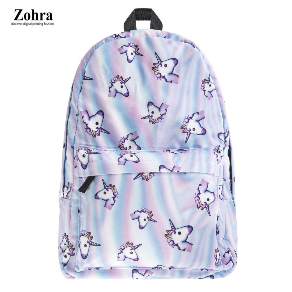 2017 new fashion Women unicorn Backpack 3D printing travel softback women mochila School space backpack notebook girls backpacks<br><br>Aliexpress