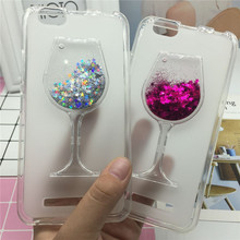 Glitter Quicksand Phone Cases for Lenovo Vibe C A2020 Case Bling Cute Srtars Cup With Soft Silicon Back Cover 3D Capa Fundas(China)