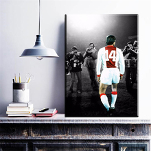 ZZ1062 Johan Cruyff Football Legend Art Canvas Poster Netherlands Soccer Star Pictures for livingroom bedroom decoration prints(China)