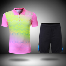 New colorful badminton sets Women/Men , Badminton clothes , table tennis clothes sets , badminton shirt + shorts  205
