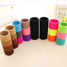Hair Accessories Sale Multicolor Elastic Durable Band Hair Rope Felt Circles For Women Kids Headwear 24pcs/pack