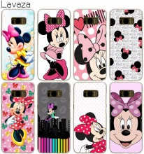 Lavaza Minnie mouse Hard Transparent Cover Case for Samsung Galaxy S7 Edge S6 S8 Edge Plus S5 S4 S3 & Mini S2(China)