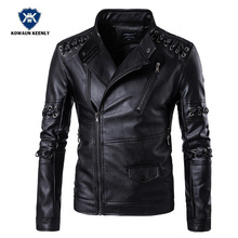Buy Winter PU Leather Coat Men's Stand Collar Black Motorcycle Leather Jacket Male Casual Slim Faux Fur Jacket Zipper Outwear 5XL for $63.68 in AliExpress store
