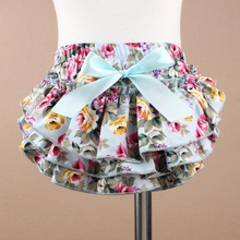 0 - 3 Years Baby Cotton Ruffle PP Bloomer Culotte Pant Skirt Girls Pettiskirt Panties Infant Layers Bottom Newborn Photo Props(China)
