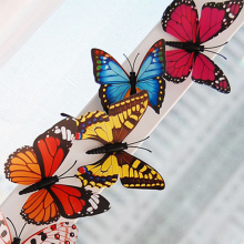 Fashion Trendy Random Color 24 PCS 3D PVC Magnet Butterflies DIY Wall Sticker Refrigerator Home Decor New Arrival