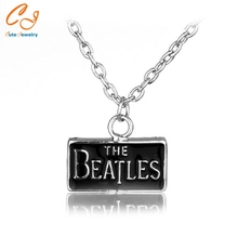 New Fashion Music Rock Band The Beatles Necklace Pendants Small Chain Necklace for Women Men