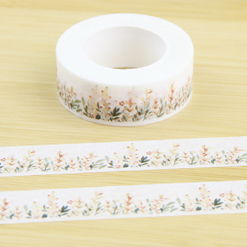 Cute Flowers Washi Tape Diy Scissors Thin Student Decoration And School Stationery
