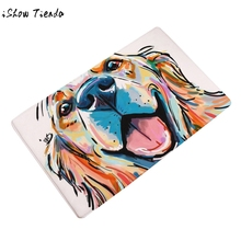Lovely Painting Dog Print Carpets Animal Home Non Slip Door Floor Mats Hall Outdoor Rugs Dust Proof Kitchen Bathroom Carpet