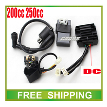 zongshen loncin 250cc cdi+ignition coil+ relay+dc rectifier 150cc 200cc motorcycle dirt bike atv quad accessories free shipping(China)