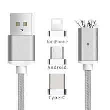 Buy Magnetic Cable USB Type C/Micro USB/IOS 3IN1 Mobile Phone Magnet Charger Cable Fast Charging Magnetic Micro USB Cable Adapter for $5.03 in AliExpress store