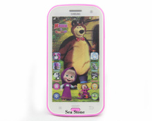 Talking Masha and Bear Learning & education Russian Language Baby Mobilephone Electronic kid's Toy phone No Original Box(China)