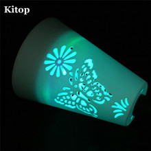 Kitop RGB color Solar LED Garden light Waterproof Butterfly Landscape Lighting plastic lawn lamp for Patio Yard Walkway driveway(China)