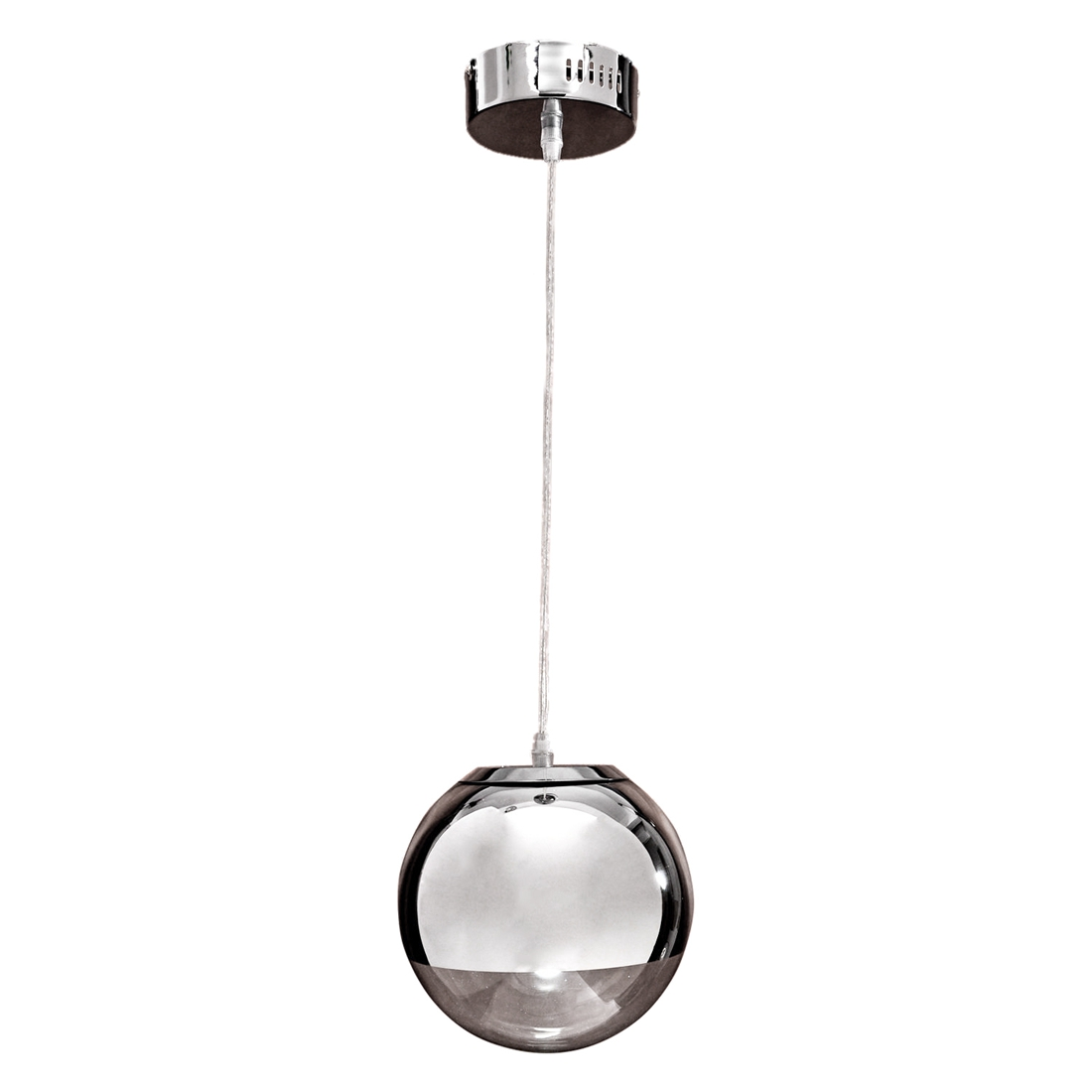Pendant Chandelier Ceiling Globe Lamp Light Bulb Metal Body Chrome<br>