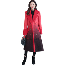 Winter Thick Warm Outerwear Women Shearling Coats Sheepskin Faux Suede Leather Jackets Loose Maxi Long Lambs Wool Coat(China)