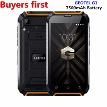 "Original Geotel G1 Mobile phone 1280*720 5.0"" Andriod 7.0 MTK6580A Quad core 2GB RAM 16GB ROM 8.0MP 7500Mah 3G WCDMA smartphone"