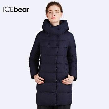 Icebear 2016 حار بيع شتاء إمرأة بيو أسفل سماكة سترة و معطف للنساء عالية الجودة سترة خمسة ألوان 16G6128D