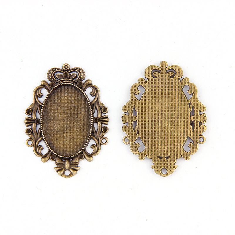 Wholesale 02 Oval Cameo Frame Settings Pendants 5x3.2cm Fit 40x30mm