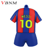 VBNM Trend Fashion usb flash pen drive 32GB Barcelona messi Barcelona 10 number memory stick PVC cute u disk 8GB 4GB Jersey(China)