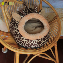 Deer Shape Dog House Bed Sofa Soft Warm Cat Cotton Cozy Puppy Kitten Pet Kennel Dog Bed Cat House For Small Dog Animals Product(China)