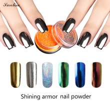 Mirror Powder Dust DIY Chrome Pigment Glitters Pretty Gold Silver Shinning Mirror Nail Glitter Nail Art Gel Polish varnish