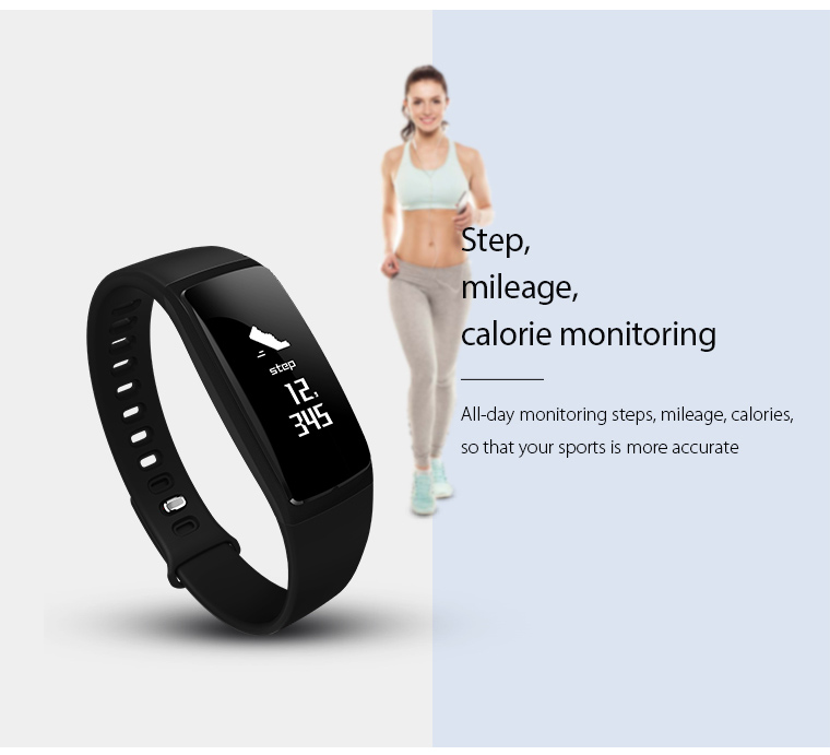 V07 Smart Band Wristband Band Heart Rate Blood Pressure Pedomet Bracelet Fitness V07S For iOS Android Phone PK Mi Band 2 Fitbits 8