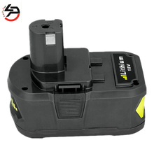 Laipuduo For Ryobi Brand New 18V 4Ah P108 RB18L40 Lithium Ion High Capacity Rechargeable Battery Pack Power Tool Battery