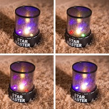 Children Gifts Romantic LED Starry Night Light, Sky Projector LED Lamp, Kids Gift Star Light Cosmos Master Night Sleeping Lights(China)