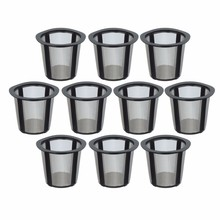 Hot Sale 10pc Plastic Stent Metal Filter Cloth Refillable Baskets My K-cup Replacement Reusable Coffee Filter Baskets For Keurig