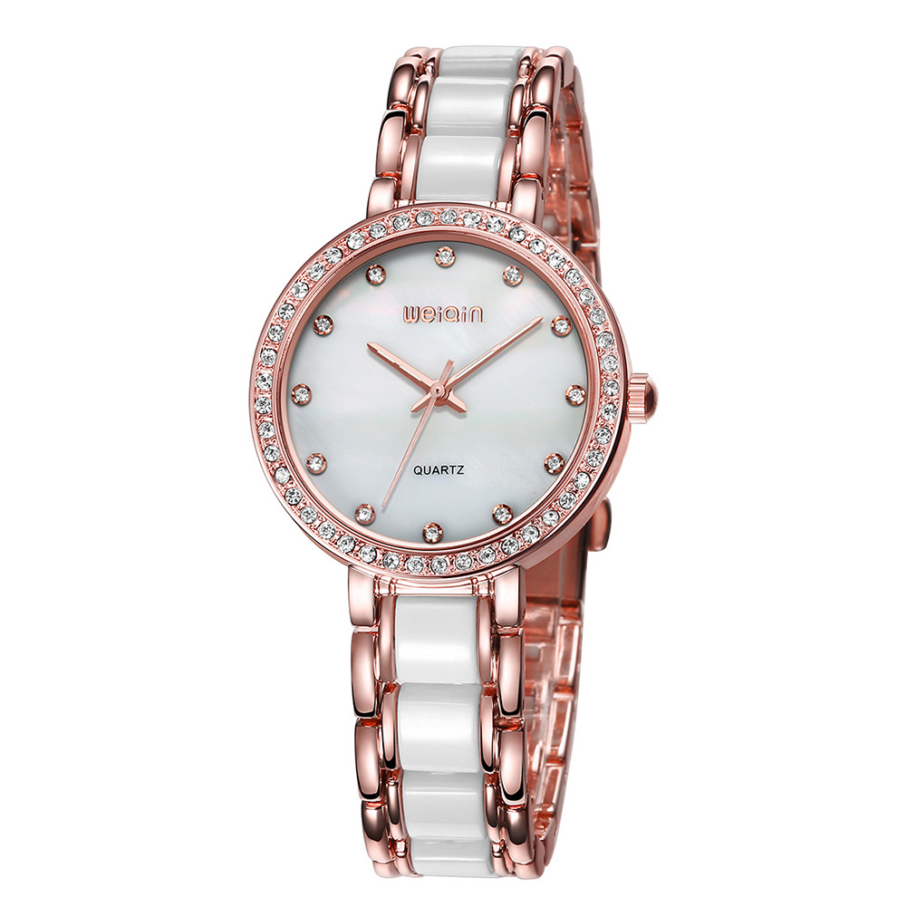 WEIQIN Luxury Gold Wrist Watch For Women Rhinestone Crystal Fashion Ladies Analog Quartz watch Reloj Mujer Clock Female Relogios<br>