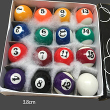 2017 New Children Billiards Table Balls Full sets 25mm/32mm/38mm Resin Small Billiard Pool Balls Hot Sell(China)