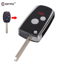 KEYYOU 3/2+Panic Buttons Modified Flip Folding Remote Key Shell for HONDA ACCORD CRV CIVIC ODYSSEY Pilot