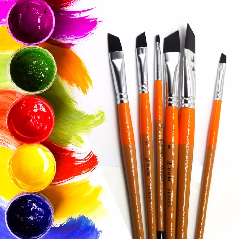 1pc Acrylic Paint BrushHair Brushes for Acrylic Oil Watercolor Painting Tools 8C