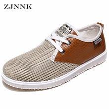 ZJNNK Hot Sale Men Summer Shoes Breathable Male Casual Shoes Fashion Chaussure Homme Soft Zapatos Hombre Summer Men Cool Shoes(China)