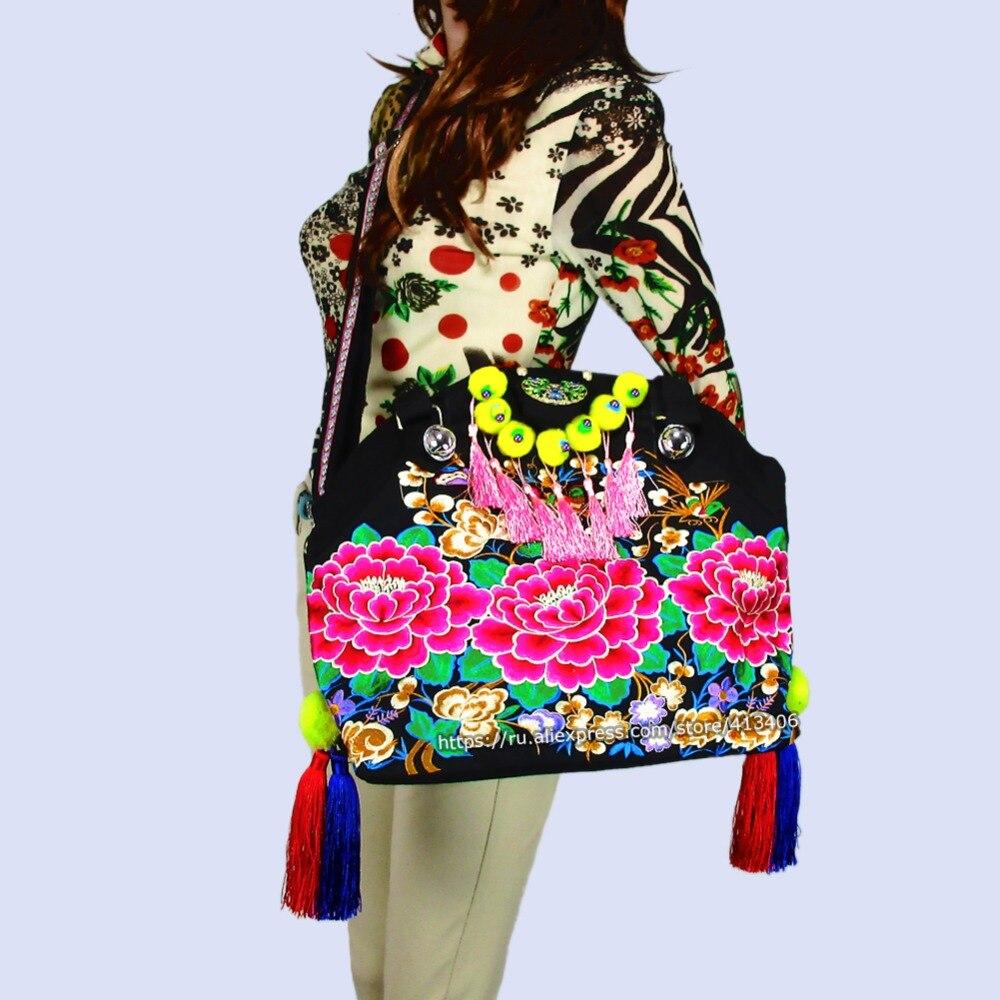 2-usage Vintage Hmong Tribal Ethnic Thai Indian Boho shoulder bag messenger  purse bag hobo tote bag embroidery , SYS-530<br><br>Aliexpress