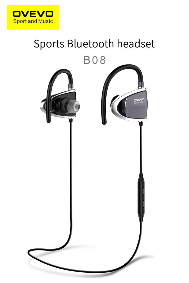 OVEVO B08 Bluetooth Headset Universal Sports Hanging Earphone HIFI Sound Quality F22242<br>