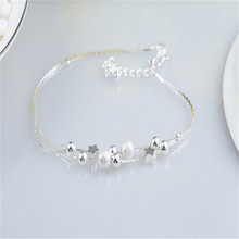 New Pulseras Silver Bracelet Jewelry Fashion Star Bracelets for women Bracelets & Bangles BG149