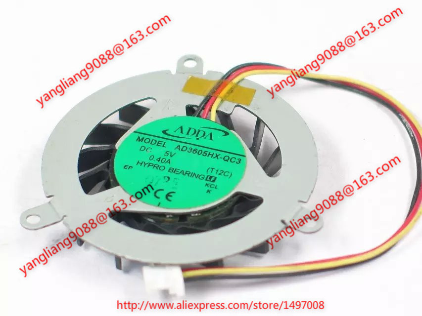 ADDA  AD3605HX-QC3 (T12C)  DC 5V 0.40A  60mm Server  Round fan<br>