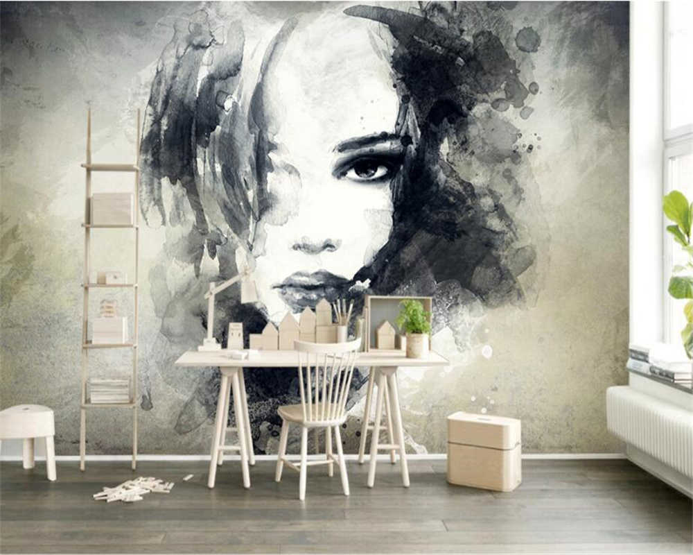 Beibehang カスタム壁紙壁画ヨーロッパアートグラフィティ 3d 水彩キャラクター大家の装飾の壁画写真 3d 壁紙 カスタム壁紙 写真 3d壁紙3d壁紙 Gooum