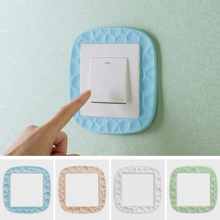 1pc Wall Stickers Luminous Switch Paste Bedroom Switch Decorative Stickers Wall Sticker Switch Protective Cover V4910