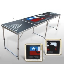 2015 New Portable Folding Beer Pong Table Official Beer Pong Table Outdoor Alumium Folding Table